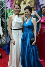 Leo Awards 2013 Red Carpet with fellow 'Beauty Mark' actress Laura Adkin
